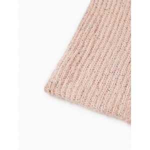 KNIT SNOOD WITH SEQUINS