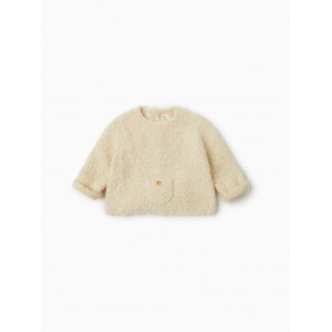 BOUCLE SWEATER WITH POCKET