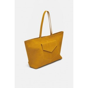 LEATHER SHOPPER WITH POCKET