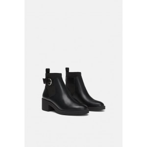 FLAT ELASTIC ANKLE BOOTS