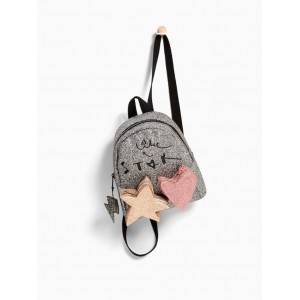 Glitter backpack with pockets