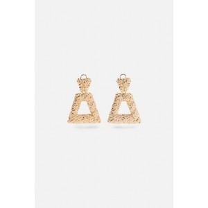 TEXTURED GEOMETRICAL EARRINGS