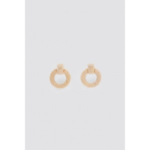 FAUX PEARL ROUND EARRINGS