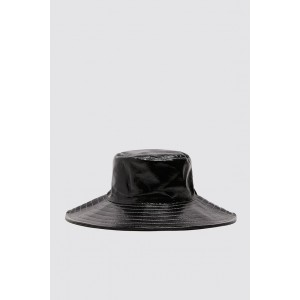 PATENT FINISH BUCKET HAT