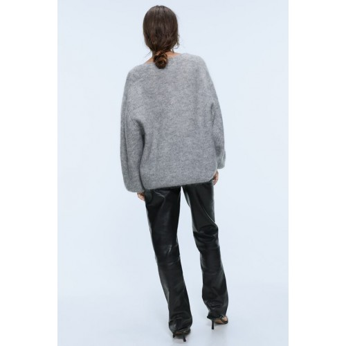 자라 MOHAIR AND WOOL BLEND SWEATER