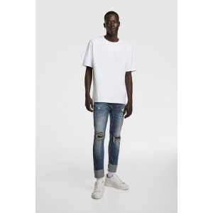 JEANS WITH TEXTED BANDS