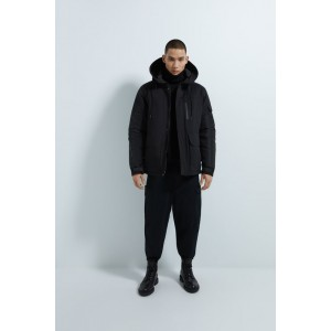 PUFFER JACKET WITH MATCHING HOOD