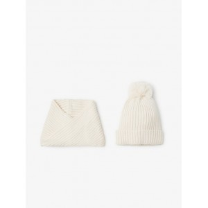 KNIT HAT AND NECK WARMER SET