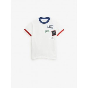 RINGER T-SHIRT WITH PATCHES