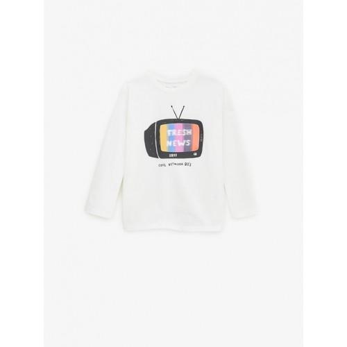 자라 LENTICULAR PRINT TV T-SHIRT