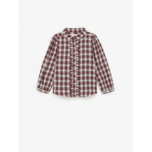 PLAID SHIRT WITH RUFFLE