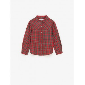 YOKE DETAIL PLAID SHIRT