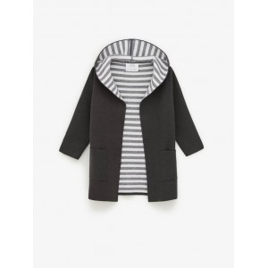 DOUBLE SIDED STRIPED COAT