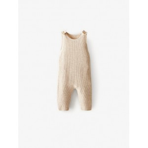 RIBBED MERINO WOOL OVERALLS
