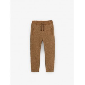HEATHERED PANTS WITH PIPING