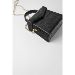 ANIMAL EMBOSSED CROSSBODY BOX BAG