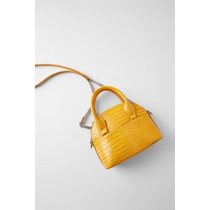 ANIMAL EMBOSSED MINI BOWLING BAG