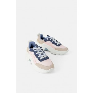 THICK-SOLED MESH SNEAKERS