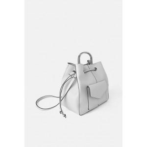 METAL HANDLE BUCKET BAG