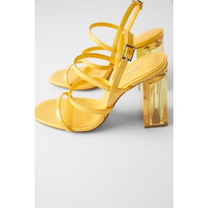 METHACRYLATE WIDE HEELED SANDALS