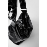 XXL PATENT FINISH MAXI BUCKET BAG