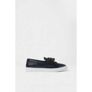 BLUE LACELESS SNEAKERS