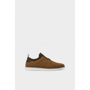 CONTRASTING BROWN ATHLETIC SHOES
