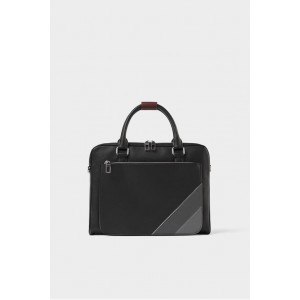 EMBOSSED BRIEFCASE WITH CONTRASTING COLOR