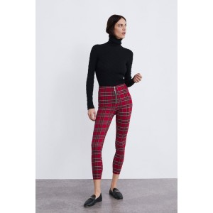 PLAID PRINTED LEGGINGS