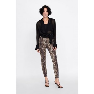 ZW PREMIUM HIGH WAIST SKINNY JEANS IN FALL LEOPARD