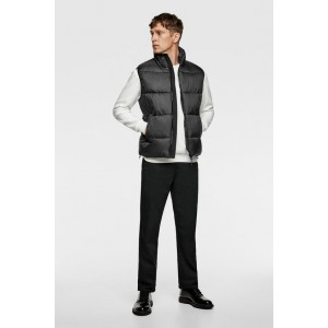 PADDED VEST WITH MATCHING PIPING