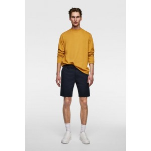 CONTRASTING TEXTURED WEAVE SHORTS