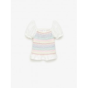COLORFUL SMOCKED TOP