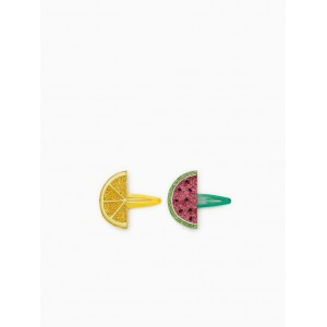 TWO PACK OF SHINY FRUIT CLIP BARRETTES