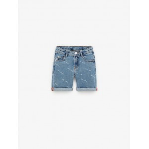 DENIM SHORTS WITH TEXT