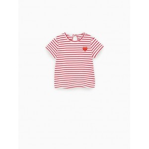 STRIPED SHIRT WITH HEART