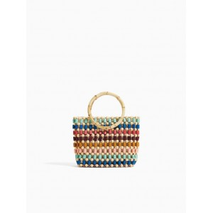BAG WITH MULTICOLORED BEADS