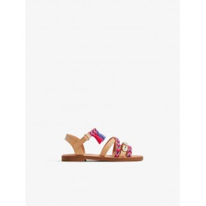 EMBROIDERED STRAP SANDALS