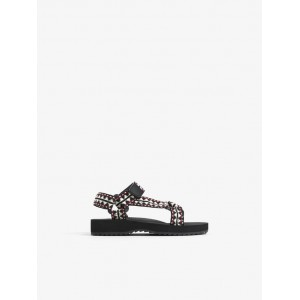 TECHNICAL SANDALS WITH PRINTED STRAPS