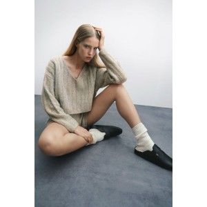 WOOL BLEND RIBBED SWEATER