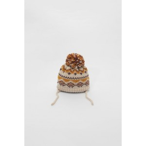 JACQUARD CAP WITH POMPOM