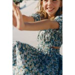 FLORAL DRESS WITH CUT OUTS