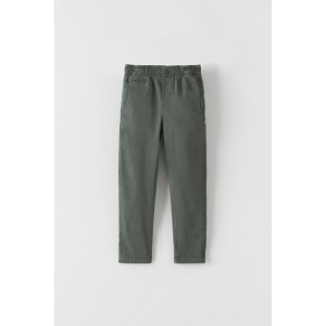 ELASTIC TRIM BASIC CHINO PANTS