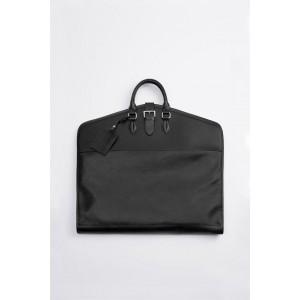 BLACK EMBOSSED GARMENT BAG