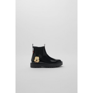 MICKEY MOUSE  DISNEY PATENT FINISH ANKLE BOOTS