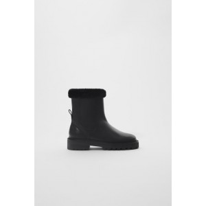 LINED LEATHER ANKLE BOOTS