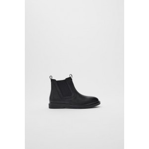 LEATHER ANKLE BOOTS WITH ELASTIC INSERTS