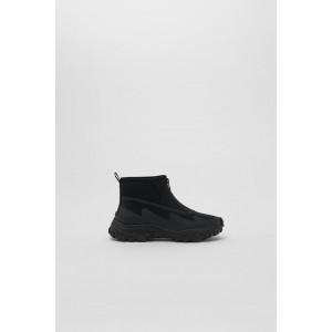 ZIPPERED TECHNICAL HIGH TOP SNEAKERS