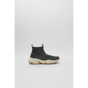 THICK SOLED HIGH TOP SNEAKERS