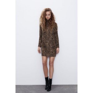 SOFT FEEL ANIMAL PRINT DRESS